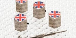 Dust Caps with Union Jack