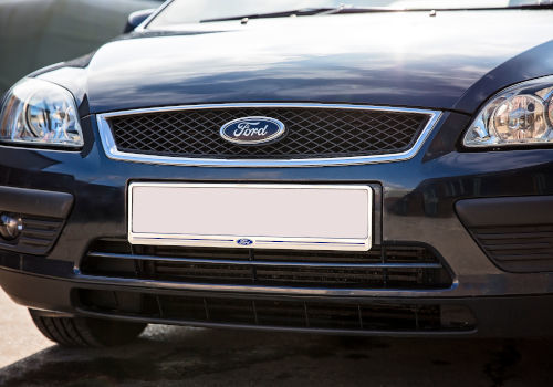 Front Chrome Number Plate Surround