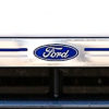 Ford logo on chromed front number plate surround