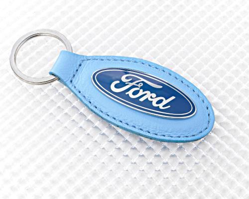 Ford Keyring - Blue Leather