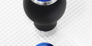 Ford Leather Gear Knob with Blue Insert