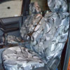 Ford Ranger Tailored Front Seat Covers - Grey Camouflage
