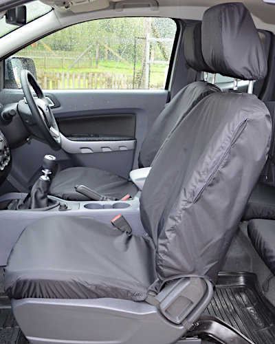 Ford Ranger Tailored Seat Covers - Front Black