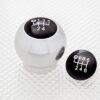 Gear Knob in Aluminium with Black inserts