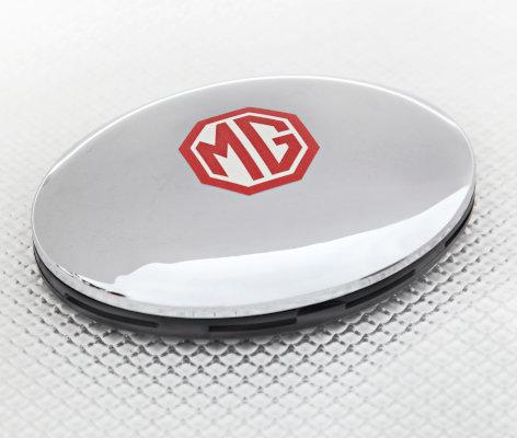 MG Car Air Freshener in Chrome