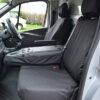 NV300 Dual Seat Covers - Black Folded