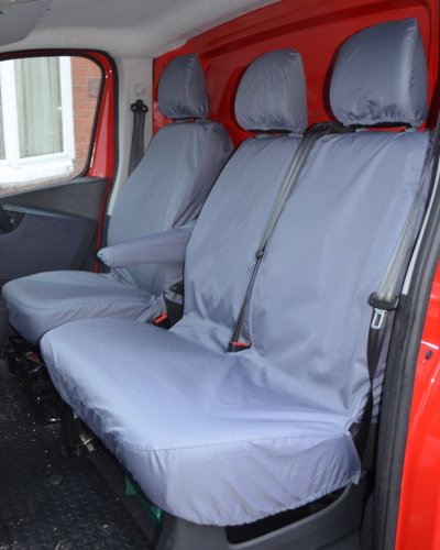 Nissan NV300 Tailored Front Seat Covers - Grey