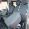 NV300 Van Black Front Seat Cover Folded