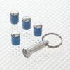 Locking Tyre Valve Dust Caps in Blue
