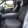 Renault Trafic Fold Flat Centre Seat Cover in Black
