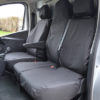 Trafic Tailored Dual Passenger Seat Covers - Black