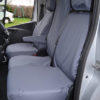 Renault Trafic Fold Flat Centre Seat Cover in Grey