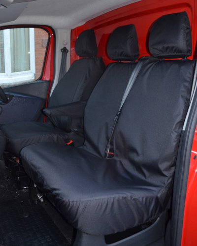 Renault Trafic Tailored Front Seat Covers in Black