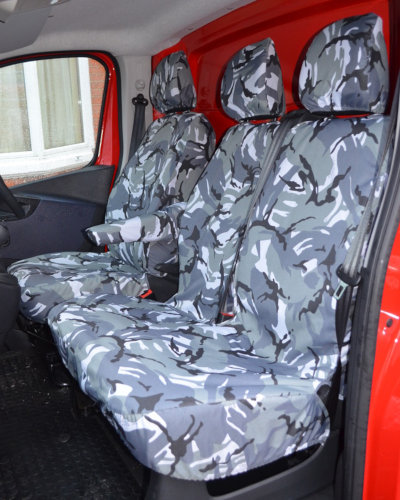Renault Trafic Tailored Front Seat Covers in Camo