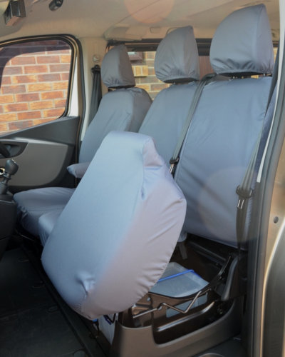 Trafic Van Front Seat Covers in Grey