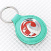Vauxhall Key Ring - Green Leather