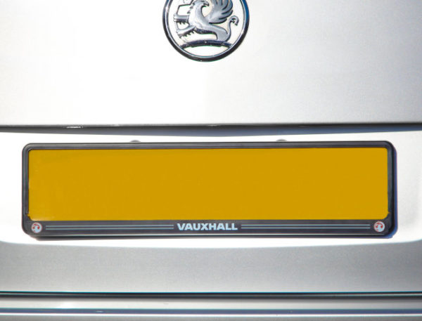 Vauxhall Rear Number Plate Surround in Black