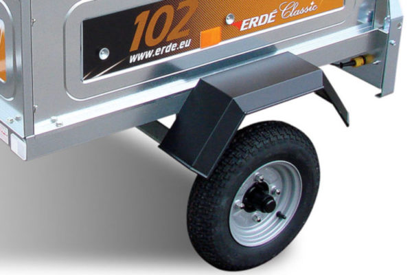 Small Trailer with Steel Wheels