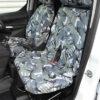 Transit Connect Van Tailored Dual Passenger Seat Cover - Camo