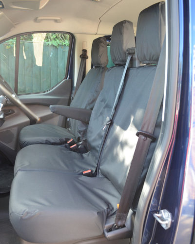 Ford Transit Custom Van Black Front Seat Covers