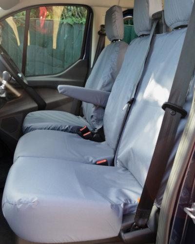 Ford Transit Custom Van Grey Front Seat Covers