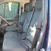Ford Transit Custom Van Black Dual Passenger Seat Covers