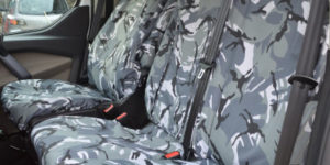 Ford Transit Grey Camouflage Dual Van Seat Covers