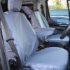 Ford Transit Van Tailored Front Seat Cover in Grey