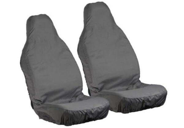 Pair of Grey Waterproof Front Seat Covers