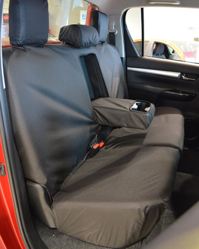 Hilux Icon Black Rear Seat Cover