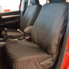 Hilux Invincible Black Front Seat Covers