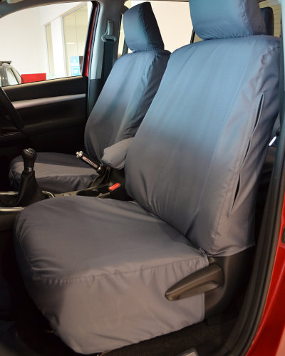 Hilux Invincible Grey Front Seat Covers