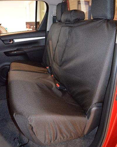 Hilux Invincible Black Rear Seat Cover