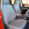 Hilux Mk8 Tailored Front Seat Cover - Grey
