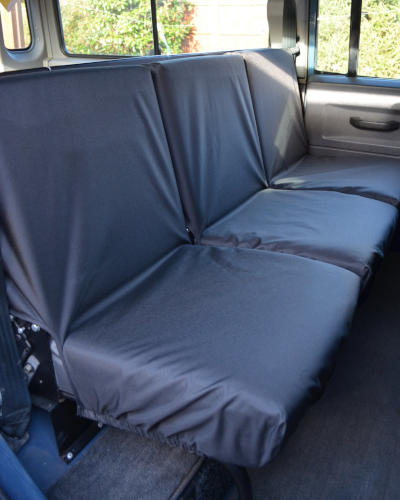 Land Rover Defender Seat Covers - 2nd Row Black