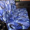 Land Rover Defender Seat Covers - 2nd Row Blue Camo
