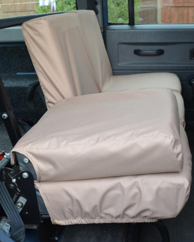 Land Rover Defender 2nd Row Seat Covers - Sand