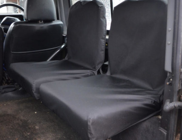 Land Rover Defender Back Seat Covers - Black