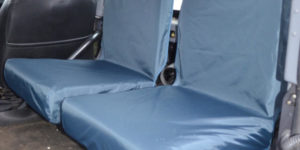 Land Rover Defender Back Seat Covers - Blue