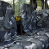 Land Rover Defender Back Seat Covers - Camouflage