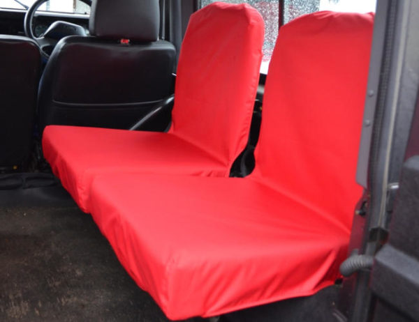 Land Rover Defender Back Seat Covers - Red