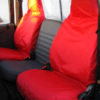 Land Rover Defender Bright Red Seat Covers
