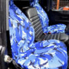 Land Rover Defender Camo Blue Seat Covers