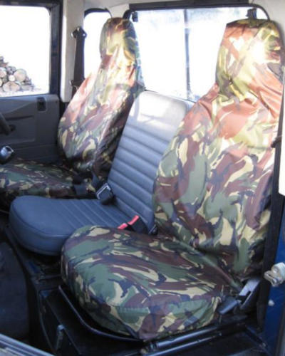 Land Rover Defender Camo Green Seat Covers