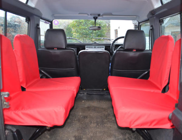Land Rover Defender Inward Facing Seat Covers - Red