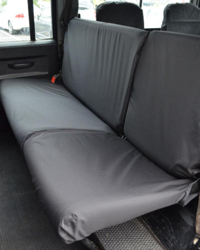 Land Rover Defender Rear Seat Covers - Black