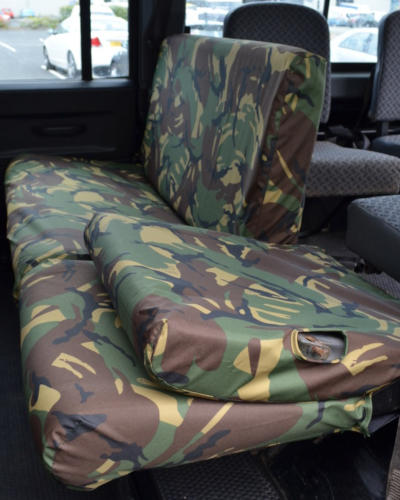 Land Rover Defender Rear Seat Covers - Camo