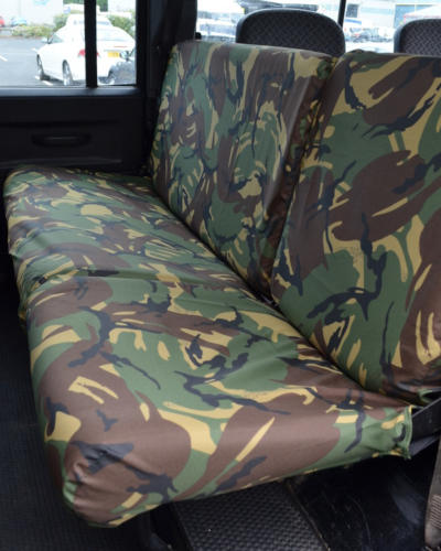 Land Rover Defender Rear Seat Covers - Green Camo