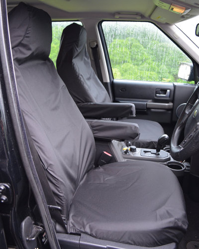 Discovery 3 Black Front Seat Covers with Armrests
