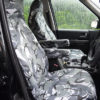 Discovery 3 Grey Camouflage Front Seat Covers with Armrests